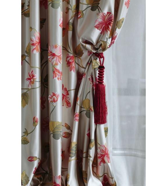Material draperie decor Okaidi, latime 280cm, roz, verde