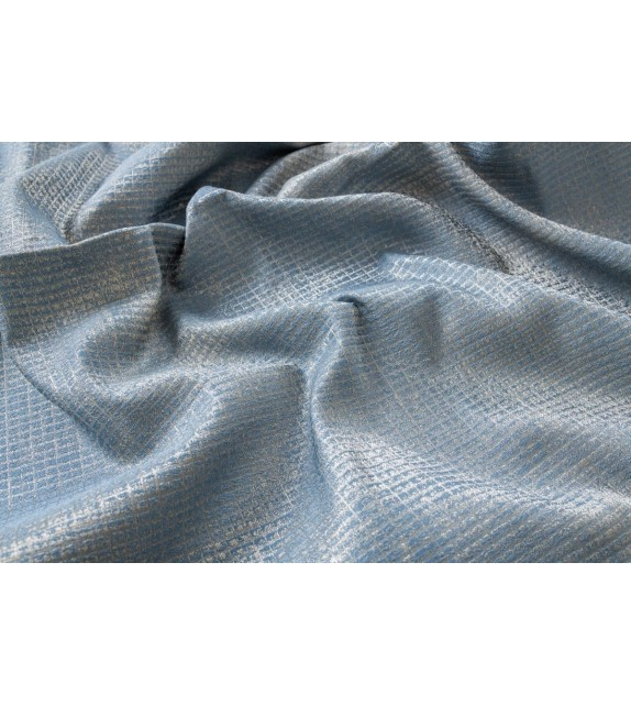 Material draperie Mendola decor Azure, latime 295cm, albastru-auriu
