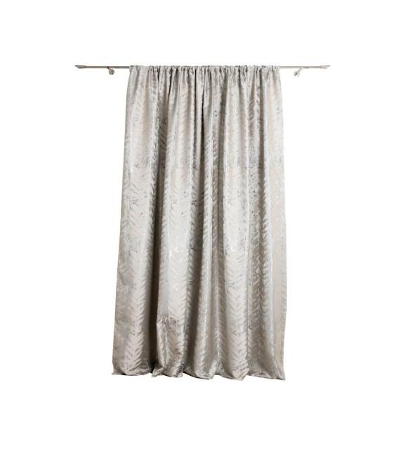 Material draperie Mendola decor Leto, latime 280cm, argintiu-crem