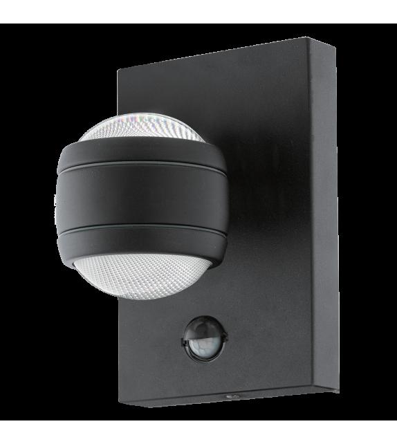 Aplica exterior cu senzor EGLO 96021 SESIMBA, LED 2x3.7W, 560lm, negru