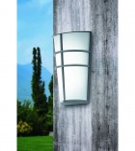 Aplica exterior EGLO 94137 BREGANZO, LED 2x2.5W, 360lm, argintiu-alb