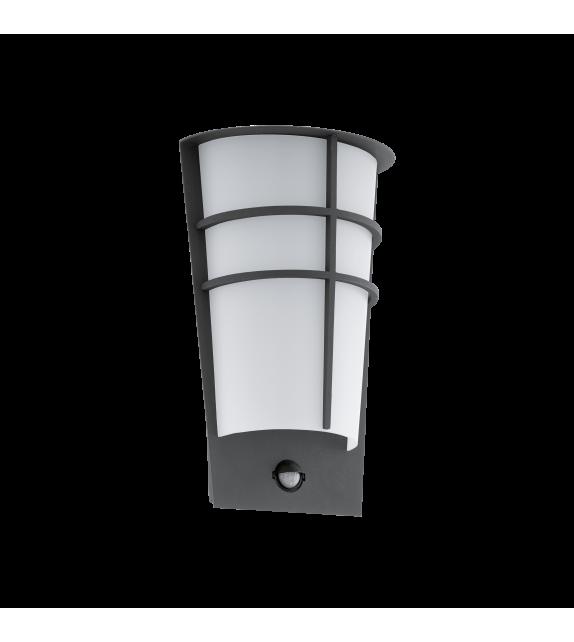 Aplica exterior cu senzor EGLO 96018 BREGANZO, LED 2x2.5W, 360lm, antracit-alb