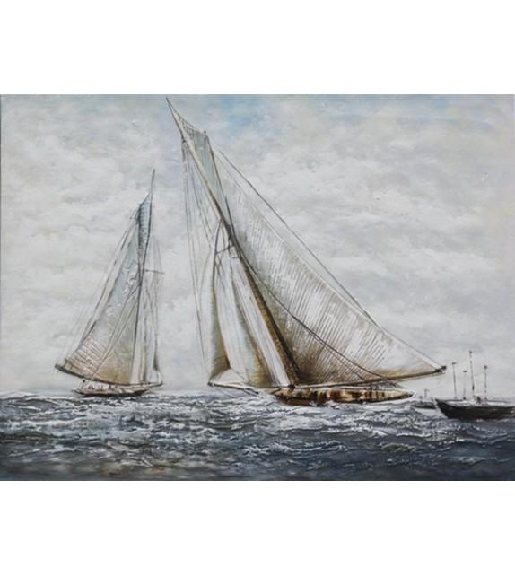 Tablou pictat manual Sailboats, dimensiunea 60x90cm