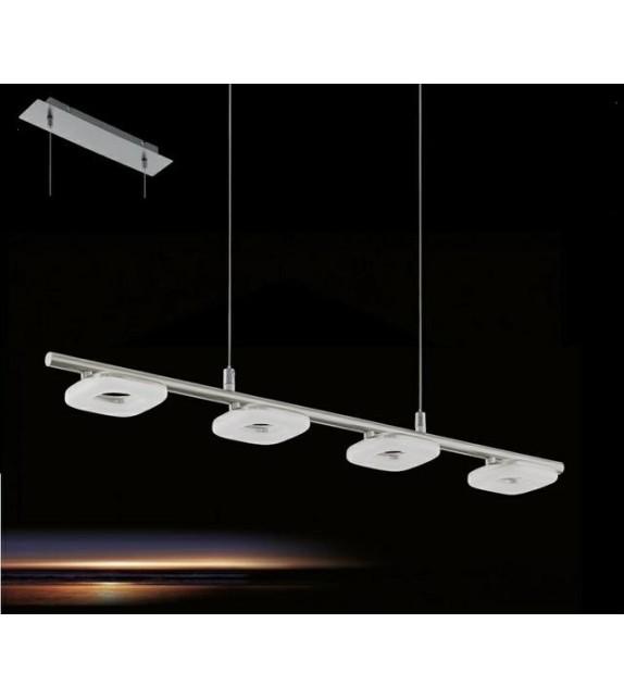 Pendul EGLO - LITAGO 97014, LED 4x4W, 1400lm, nichel-alb