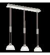 Pendul EGLO - MONTEFIO 93468, LED 3x6W, 1380lm, nichel