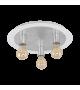 Plafoniera EGLO - PASSANO 97495, E27, 3x4W, 960lm, alb-argintiu