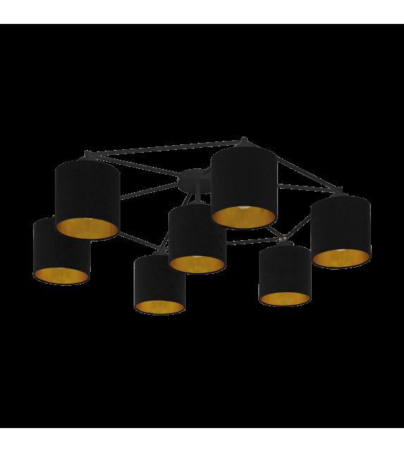 Plafoniera EGLO - STAITI 97895, E27, 7x40W, negru-auriu