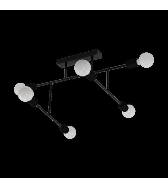 Plafoniera EGLO - BELSIANA 98034, E27, 6x40W, negru
