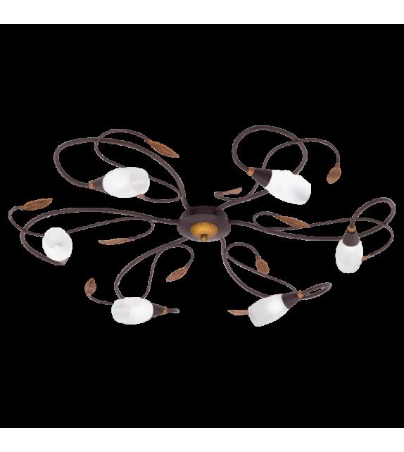 Plafoniera EGLO - GERBERA 1 90697, G9, 6x33W, maro-auriu