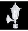 Aplica exterior cu senzor EGLO 22464 LATERNA 4, E27, 1x60W, alb, cu orientare in sus
