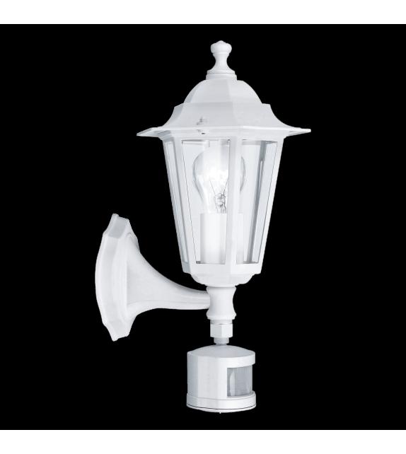 Aplica exterior cu senzor EGLO 22464 LATERNA 5, E27, 1x60W, alb, cu orientare in sus