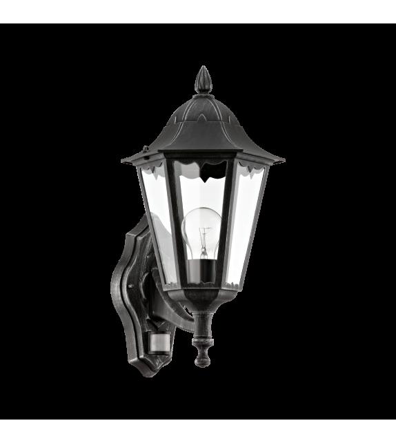 Aplica exterior cu senzor EGLO 93458 NAVEDO, E27, 1x60W, negru, cu orientare in sus