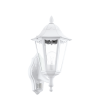 Aplica exterior cu senzor EGLO 93447 NAVEDO, E27, 1x60W, alb, cu orientare in sus