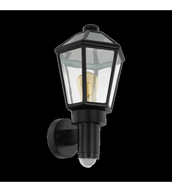Aplica exterior cu senzor EGLO 97257 MONSELICE, E27, 1x28W, negru