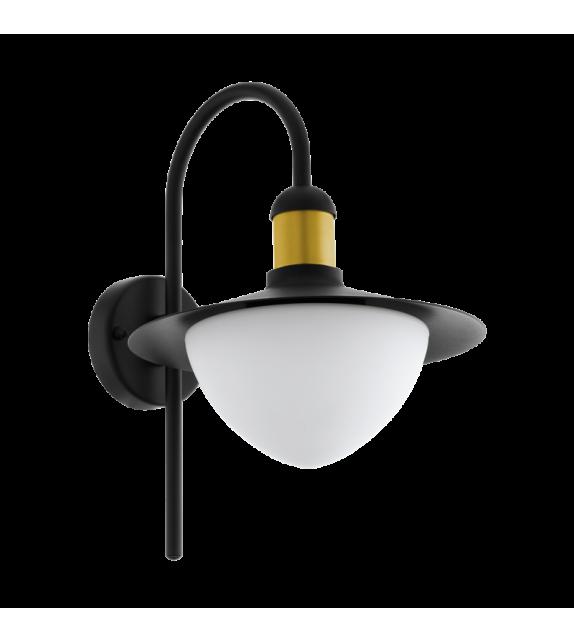 Aplica exterior EGLO 97285 SIRMIONE, E27, 1x60W, negru-auriu/alb