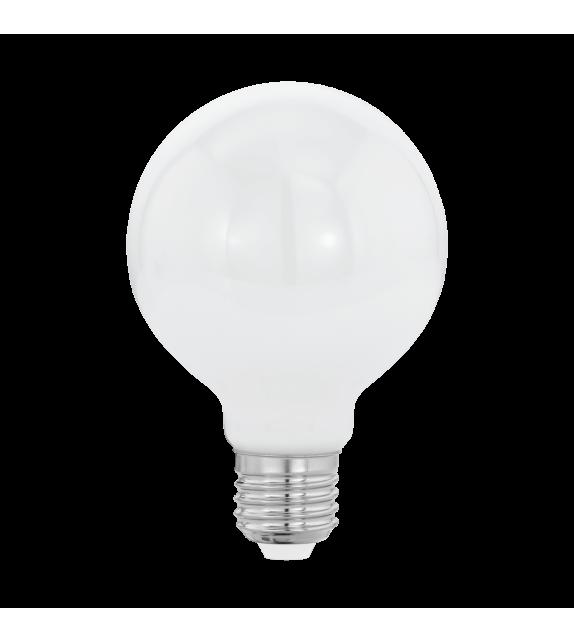 Bec LED E27 EGLO 11598 MILKY, 7W 806lm 2700k, Ø80mm