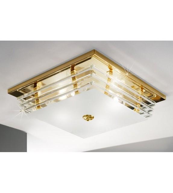 Plafoniera Ontario Kolarz, 39/39, E27, 4x60W, placat cu aur 24K