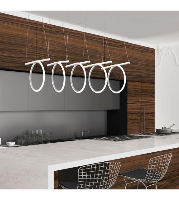 Pendul Donatella - 2549 Rabalux, LED 108W, alb-crom