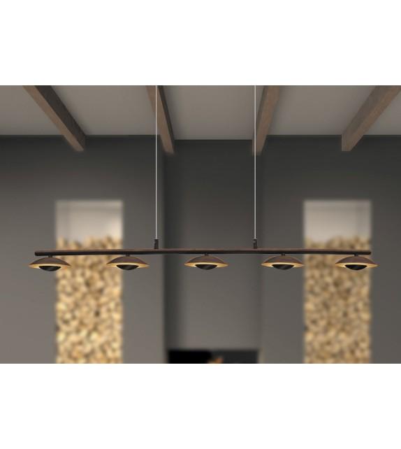 Pendul Brigitte - 2555 Rabalux, LED 5x5W, maro-auriu