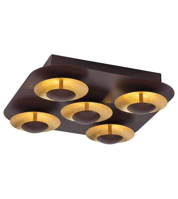 Plafoniera Brigitte - 2557 Rabalux, LED 5x5W, maro-auriu