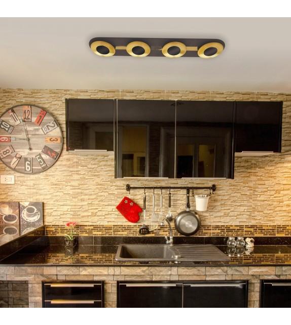 Plafoniera Brigitte - 2554 Rabalux, LED 4x5W, maro-auriu