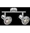 Aplica Spot HOLLY 5556 Rabalux, E14, 2x40W, Metal Cromat, Sticla Fumurie