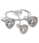 Plafoniera Spot HOLLY 5558 Rabalux, E14, 3x40W, Metal Crom, Sticla Fumurie