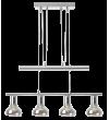 Pendul HOLLY 5560 Rabalux, E14, 4x40W, Metal Crom, Sticla Fumurie