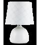 Veioza ELLIE 4379 Rabalux, E14, 40W, Ceramica Textil, Alb