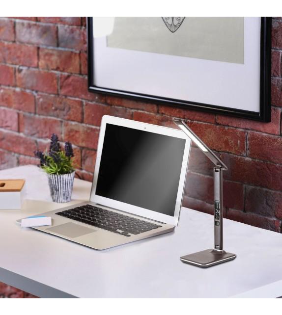 Lampa ELIAS 5773 RABALUX, LED 13W, Smart Dimer cu Touch, ecran digital, termometru, funcție de alarmă, buton cu atingere