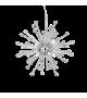Lustra PAULINE SP8, IDEAL LUX, Ø 53, G9, 8x40W, Metal Cromat, Sticla