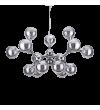 Pendul / Suspensie NODI CROMO SP15, IDEAL LUX, Ø 105, E14, 15x40W, Metal Cromat, Sticla