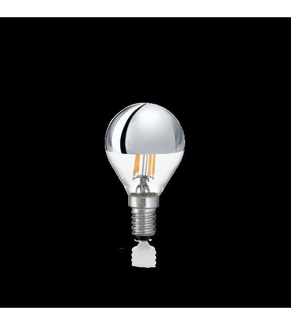 Bec LED E14 IDEAL LUX SFERA CROMO 3000K, 4W 260lm, Ø45mm