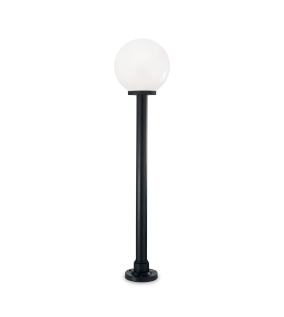 Stalp pitic exterior CLASSIC GLOBE PT1 Big IDEAL LUX, E27, 1x60W, negru