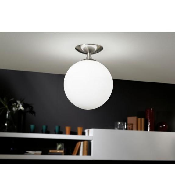 Pendul RONDO 91589 Eglo, E27, 1x60W, nichel satinat-alb