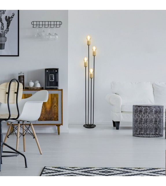 Lampadar Lanny - 4561 Rabalux, E27, 4x15W, negru-auriu